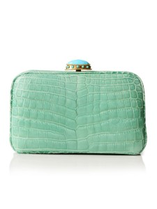 josephine clutch, jada loveless clutch, jada loveless collection, classic collection, jada loveless bag, jada loveless handbag, jada loveless clutch, alligator bag, alligator clutch, blue alligator, seafoam alligator, exotic clutch