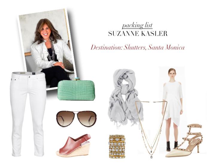 Suzanne Kasler's Santa Monica Packing List