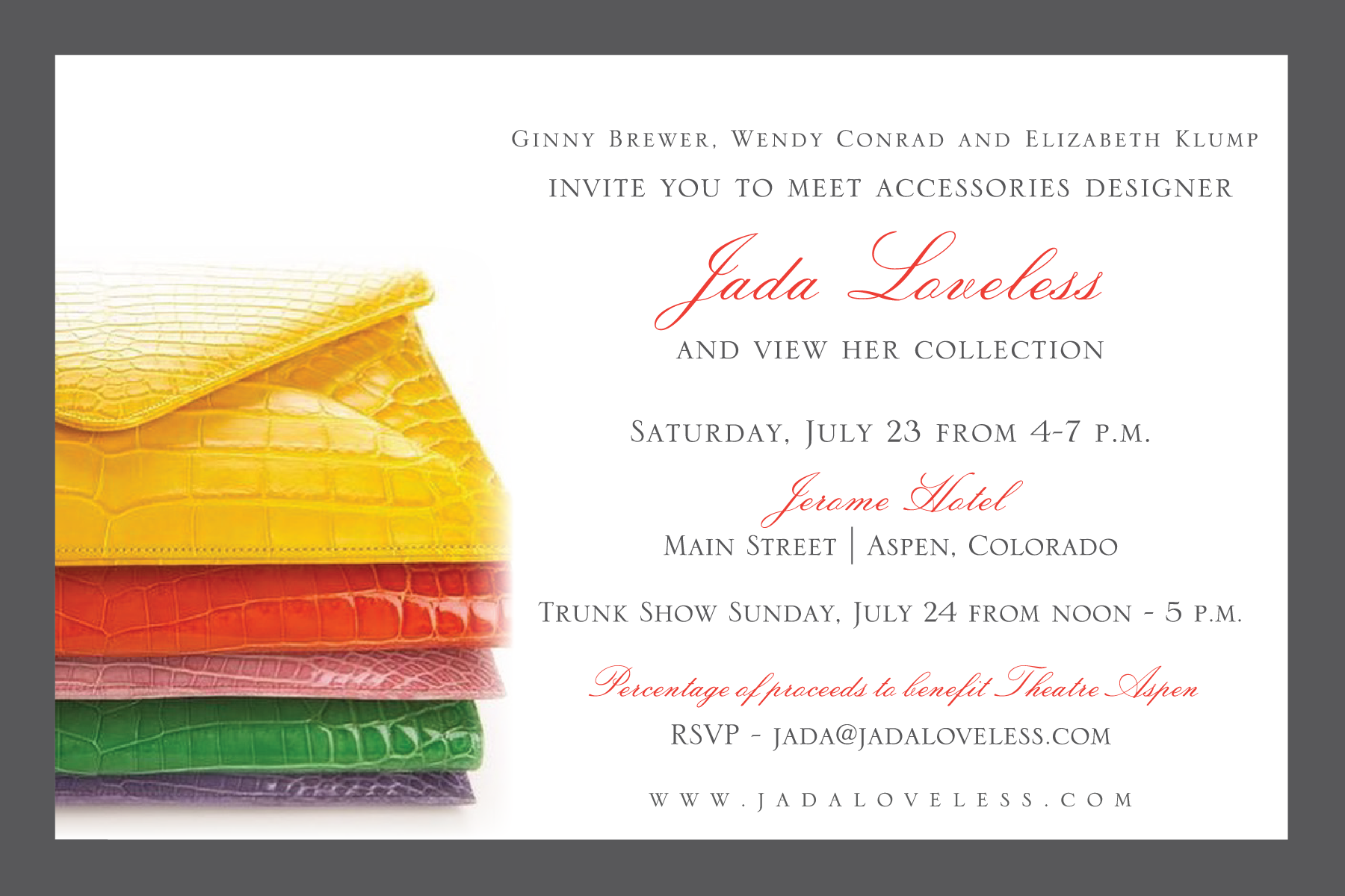 Join Us for Our Aspen Trunk Show Jada Loveless