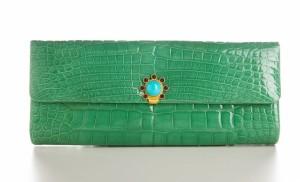 Classic Clutch, Jada Loveless, Jada Loveless Classic Clutch, Jada Loveless Handbag, luxury handbag, exotic handbag, Alligator, Seafoam Alligator, Grace Clutch, Jada Loveless Grace