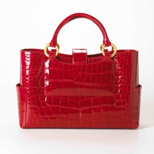 Jada Loveless classic tote, classic tote, jada loveless handbag, jada loveless tote, alligator tote, exotic tote, luxury tote, ruby alligator, alligator bag, jada loveless classic collection