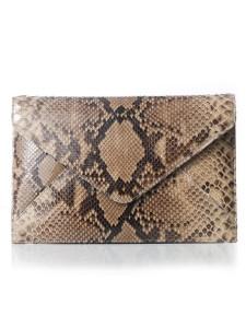 python clutch, pyton envelope, jada loveless marie, jada loveless envelope clutch, jada loveless python bag, jada loveless handbag, python bag, natural python bag, classic collection, jada loveless classic collection